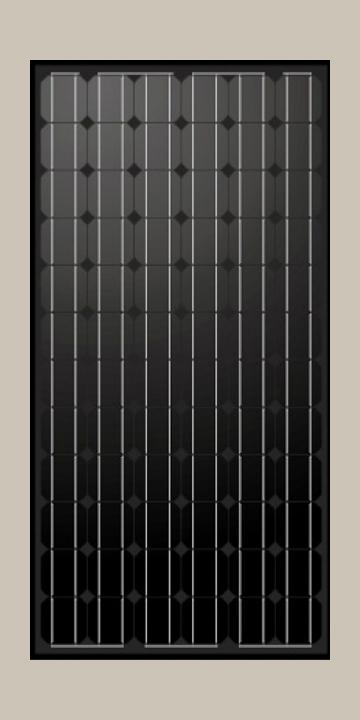 Чёрные монокристаллические солнечные панели