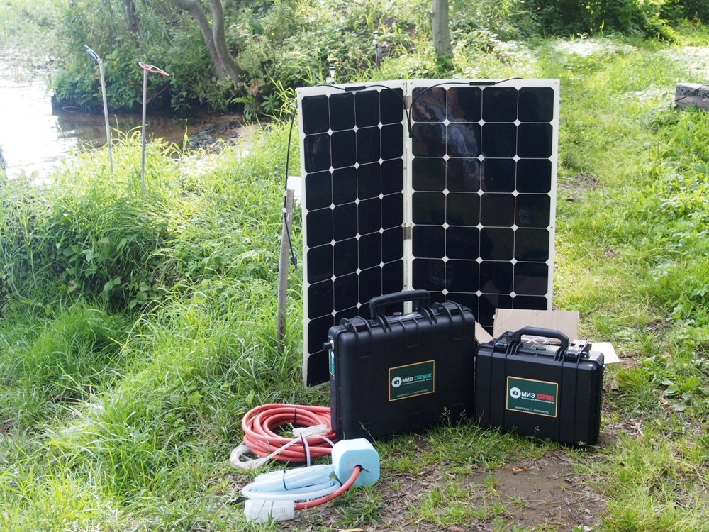 Комплект мобильных (лёгких) солнечных панелей