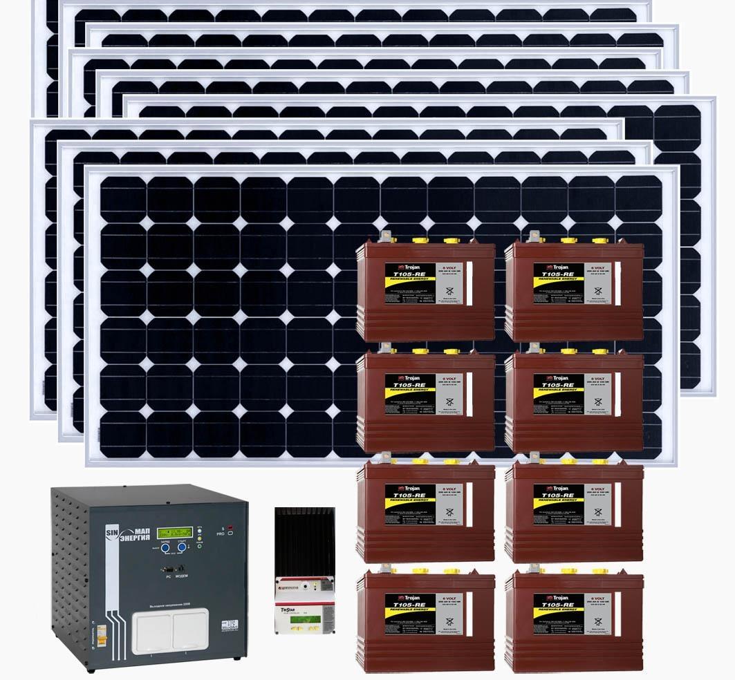 схема подключения солнечных батарей к инвертору